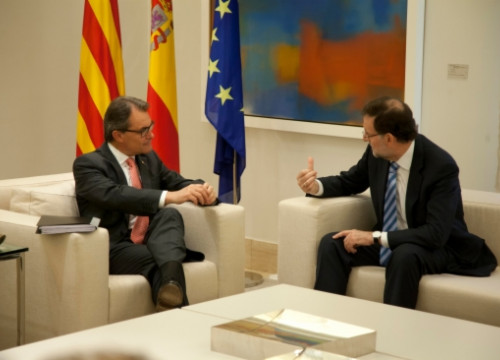 The Catalan President, Artur Mas (left) and the Spanish Prime Minister, Mariano Rajoy (right) in the meeting they held in July (by ACN)