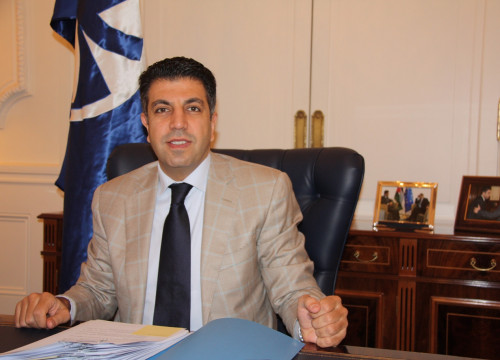 Ahmad Masa'deh, Secretary General of the Union for the Mediterranean, in his office (by M. Fernández)