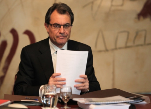 The Catalan President, Artur Mas, in the Cabinet's Meeting Room (by O. Campuzano)