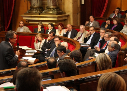 Artur Mas during this Wednesday's control session at the Catalan Parliament (by P. Mateu)