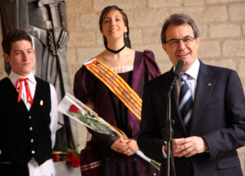The Catalan President, Artur Mas, at the Generalitat Palace celebrating Sant Jordi's Day (by P. Mateos)