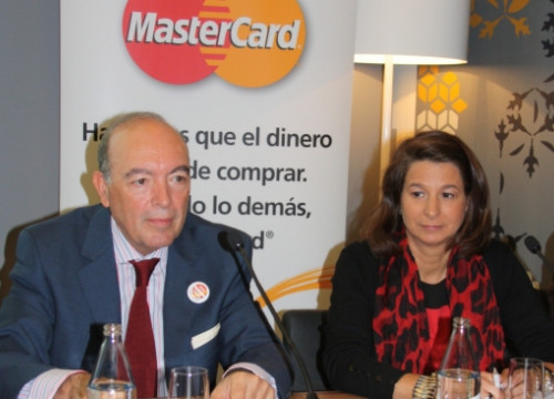 MasterCard Europe's President and the company's General Manager for Spain and Portugal in Barcelona (by E. Romagosa)