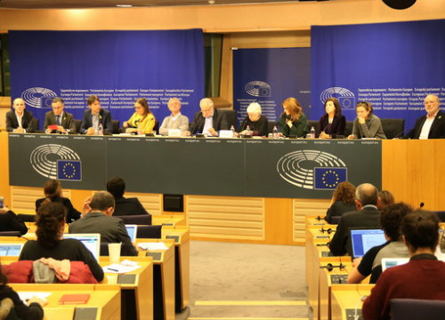MEPS from group EU-Catalonia Dialogue platform at a press conference on 29 November (by ACN)