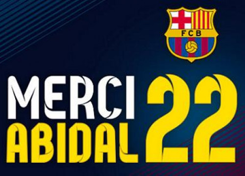 The logo for Abidal's farewell (by FC Barcelona)