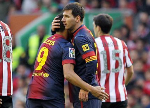 Alexis Sánchez and Leo Messi scored Barça's two goals against Bilbao (by FC Barcelona)