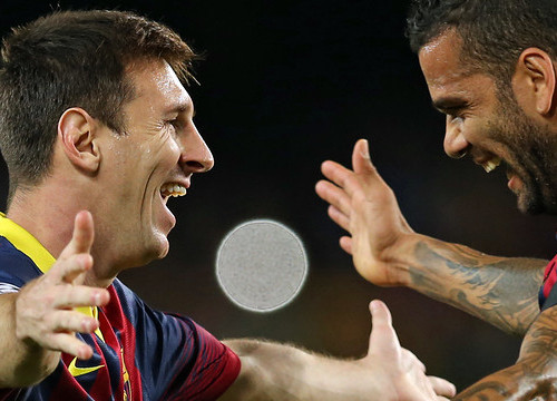 Leo Messi and Dani Alves are likely to play this Wednesday evening against AC Milan (by FC Barcelona)