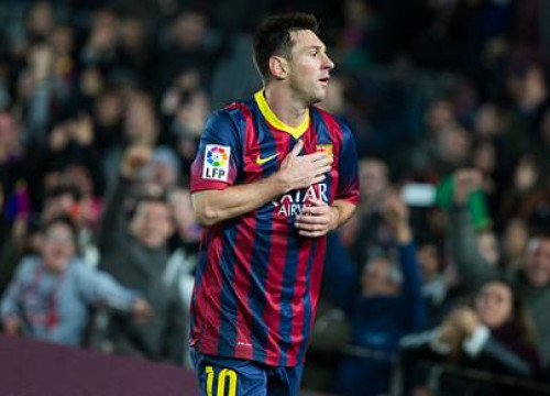 Leo Messi scored two goals against Getafe in his return after an almost two month long break (by FC Barcelona)