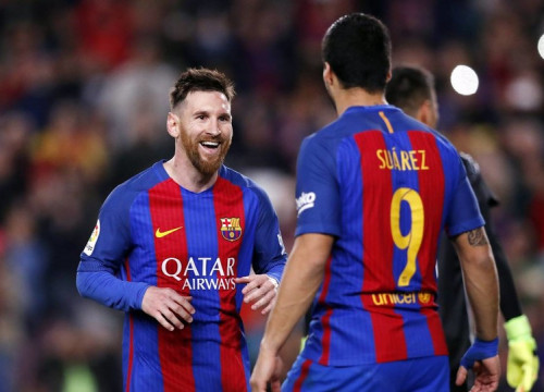 Lionel Messi and Luis Suárez are 1-2 in La Liga scoring race (by FCB)