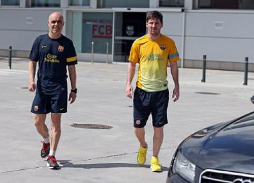 Leo Messi this Wednesday morning in Barcelona (by FC Barcelona)