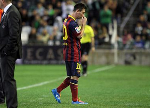 Messi got injured in the Spanish League game against Betis, played on November 10th (by FC Barcelona)