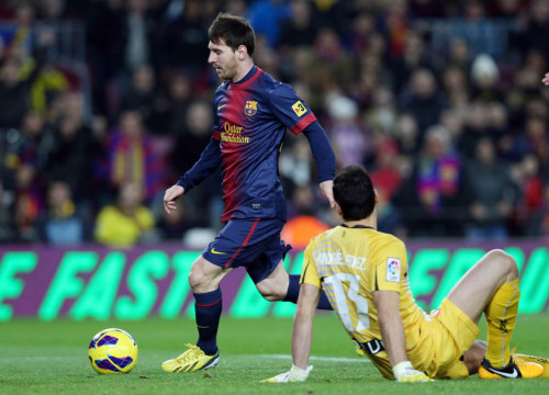 Messi scored four goals against Osasuna (by FC Barcelona)