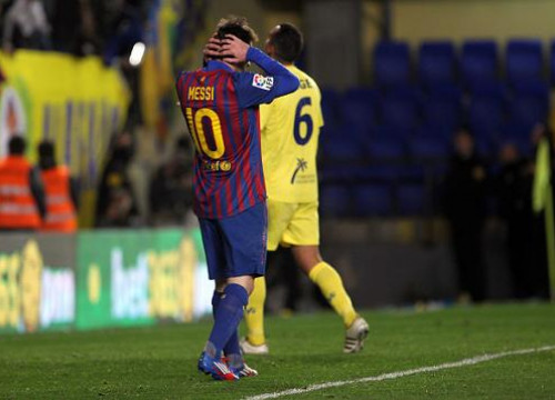 Messi had some chances against Villareal, but luck was not on Barça's side (by FC Barcelona)