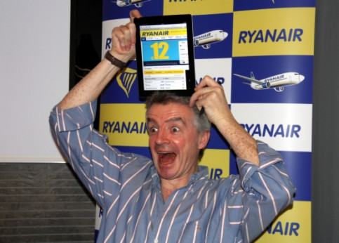Ryanair's President Michael O'Leary while presenting the new routes from Barcelona (by E. Romagosa)