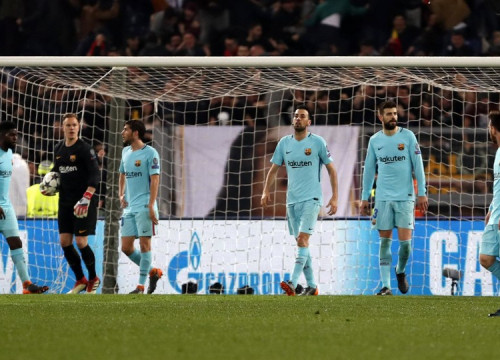 Barcelona players failed to secure the Champions league semifinals (by FCB / Miguel Ruiz)