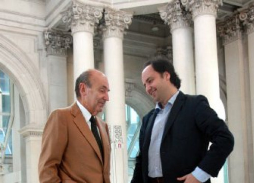 The MNAC's new President, Miquel Roca (left) and the new Director, Pepe Serra (right) (by M. Amengual)