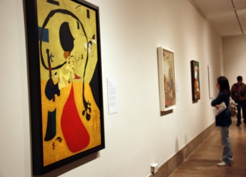 One of Miró's paintings of the Dutch Interiors series (by A. Matamoros)