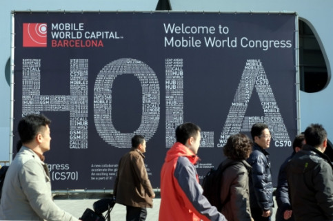 The first day of the 2013 GSMA Mobile World Congress, which takes place each year in Barcelona (by ACN)