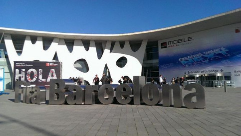 The main entrance of the 2014 Mobile World Congress (by B. Ramage)