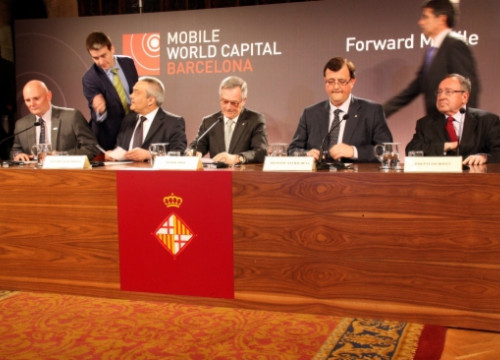 The official kick off of the foundation Barcelona Mobile World Capital (by P. Mateu)