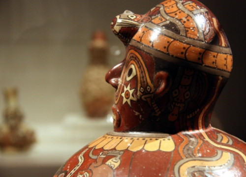 Moche ceramics on show at CaixaForum Barcelona's temporary exhibition (by P. Francesch)