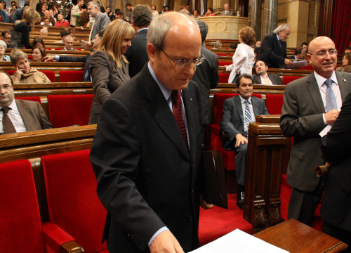 Catalan President, José Montilla, in one of the last Parliament plenary session before summer break
