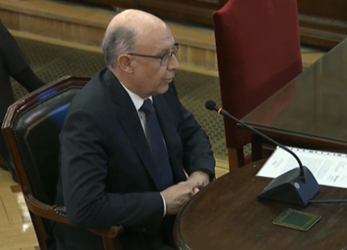 Spain's former finance minister, Cristóbal Montoro, testifying in Spain's Supreme Court