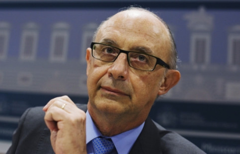 The Spanish Finance Minister, Cristóbal Montoro, in a press conference helf after meeting with the Autonomous Communities in 2014 (by ACN)