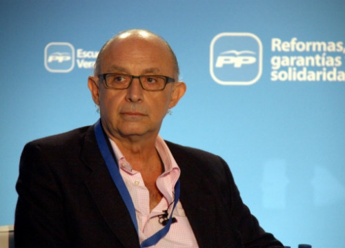 Cristóbal Montoro in a recent People's Party meeting in Gandia (by ACN)