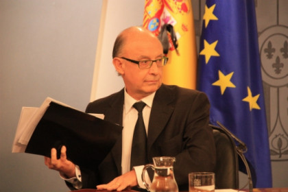 The Spanish Finance Minister, Cristóbal Montoro, at a press conference a few months ago (by ACN)