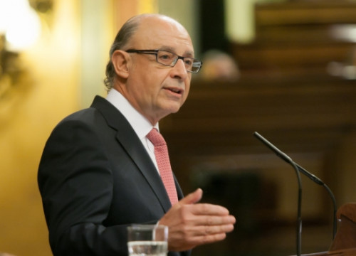 The Spanish Finance Minister, Cristóbal Montoro, on Tuesday at the Spanish Parliament (by Congreso de los Diputados)