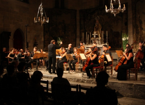 An image from yesterday's concert, featuring Montsalvatge's works (by X. Pi)