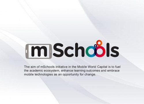A slide of the mSchools project (by Mobile World Capital)
