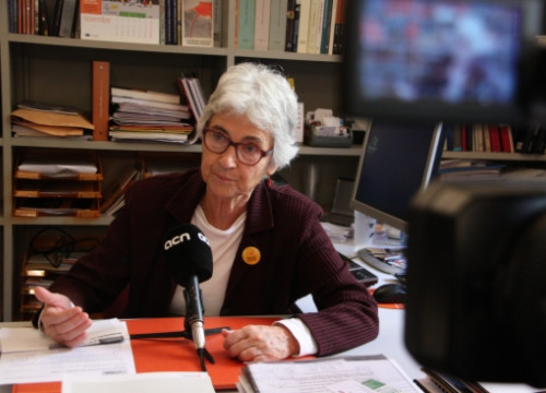 Muriel Casals during the ACN interview (by B. Fuentes)