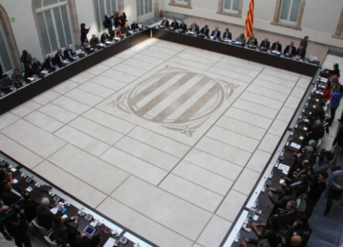 The National Alliance for Self-Determination meeting at the Catalan Parliament's auditorium (by B. Fuentes)