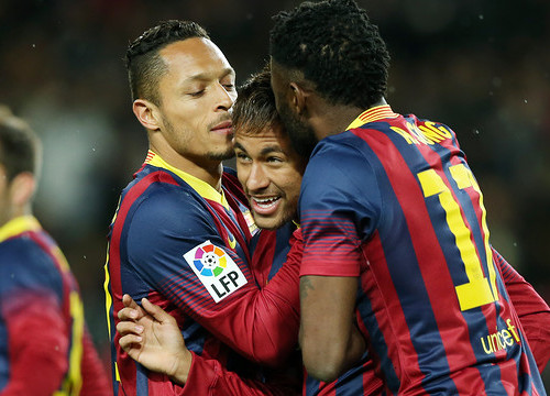 Neymar scored two goals against Celta de Vigo (by FC Barcelona)