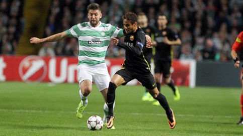 Neymar at Barça's last match against Celtic (by FC Barcelona)