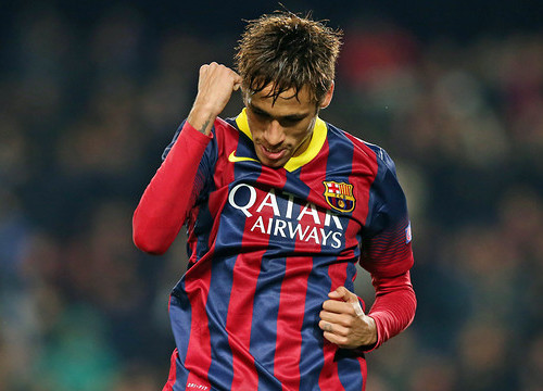 Neymar scored a hat-trick against Celtic (by FC Barcelona)