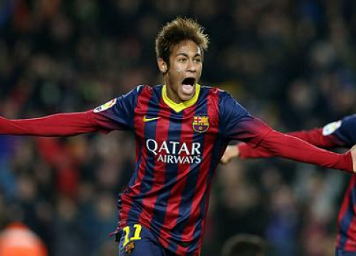 Neymar scored two goals against Villareal (by FC Barcelona)