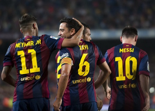 Neymar, Xavi and Messi scored Barça's 3 goals against Eibar (by FC Barcelona)