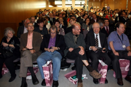 The six Chemistry Nobel Prize laureates at the opening session (by N. Torres)