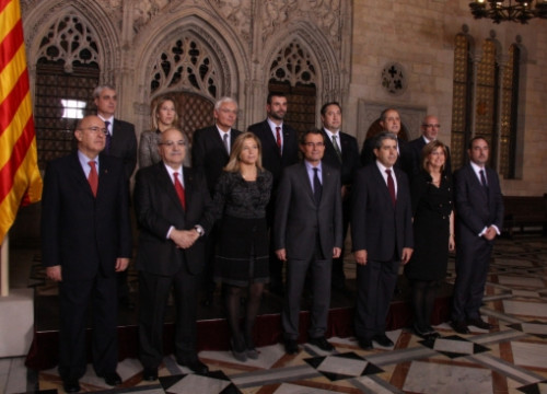 Group photo fo the new Catalan Government (by P. Francesch)