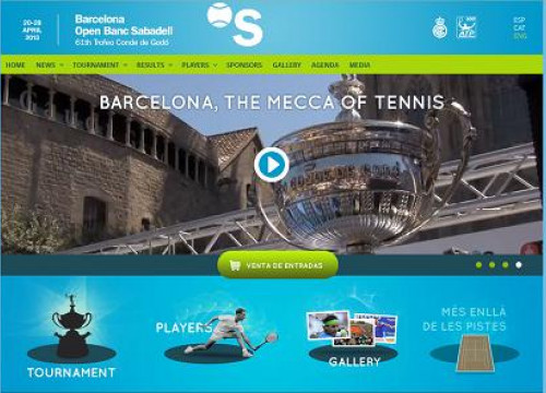 The website of the 61st Barcelona Open Banc Sabadell (by ACN / Barcelona Open Banc Sabadell)