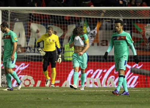 Barça players were defeated in the FC Barcelona vs Osasuna game (by FC Barcelona)