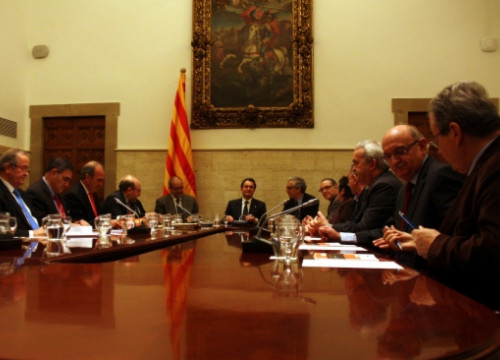 The meeting of the 'Agreement for the Industry' chaired by the Catalan President, Artur Mas (by J. R. Torné)