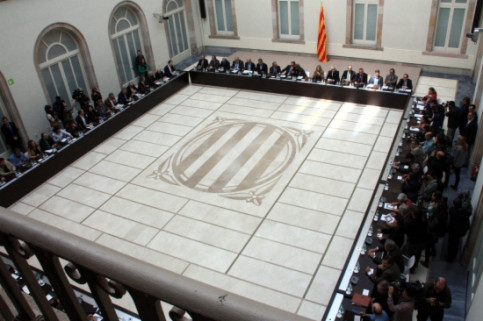 A general overview of the meeting's room at the Catalan Parliament (by ACN)