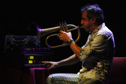Trumpet player Paolo Fresu at Barcelona International Jazz Festival's opening concert (by P. Cortina)