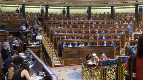 Image of the Spanish congress during the presidential debate on July 23, 2019