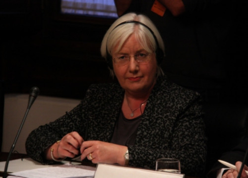 Patricia Ferguson, Labour Party MP from Scotland, at the Catalan Parliament (by A. Moldes)
