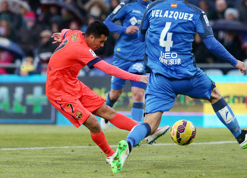 Pedro scored three goals against Getafe last season, but on Saturday the game stayed without goals (by FC Barcelona)