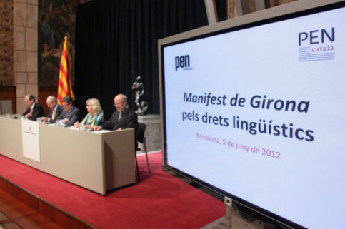 The presentation in the Generalitat Palace of the Girona Manifesto (by P. Francesch)